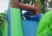 Inflatble obstacle course black ranger