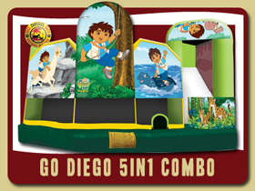 Diego 5in1 Combo Bouncer New Smyra Beach birthday party rentals Ormond Beach