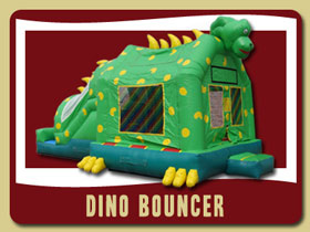 Dino Dinosaur Combo Inflatable Holly Hill bouncy house rentals Palm Coast