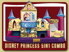 disney princess inflatable moonwalk bouncing castle rental De Leon Springs