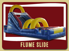 Flume Water Slide Moonwalk Deland kids inflatable rentals Lake Helen party house rental De Leon Springs