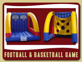 Football and Basketball Combo Inflatable Palm Coast birthday party rentals Port Orange