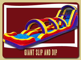 Slide and Slip and Slide inflatable Deleon Springs jumpers Edgewater