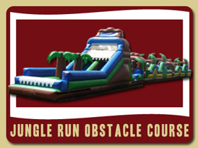 Jungle Run Super Long Obstacle Course Wet or Dry Volusia County bouncer rental Orange City