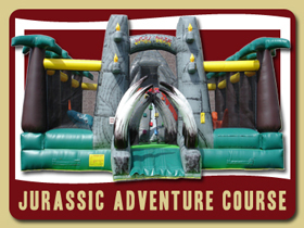 Jurassic Adventure Playland Ormond Beach inflatable bounce house rentals Deland