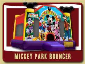 mickey mouse moonwalk Bouncer St Augustine Bouncy rentals Deltona jumping bean Lake Helen