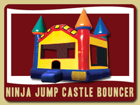 Ninja Jump Inflatable Hastings Party rentals Palm Coast birthday party rental church rent school party jumpin bean jumpy place Inflatable jump houses Palm Coast party house rental Bunnell