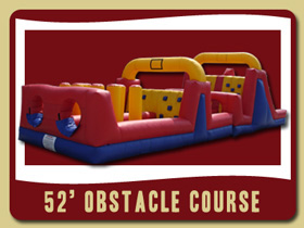 52 Foot Long Inflatable Obstacle Course Deltona bouncy bounce rentals Debary