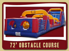72 Foot Long Obstacle Course Inflatable Bunnel party rentals Florida Debary