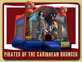 Pirates of the Caribbean Bouncer South Daytona Blow up slide rentals Port Orange bounce house rental De Leon Springs