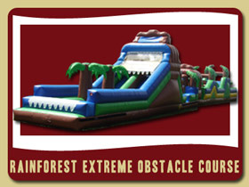 Rainforest Extreem Obstacle Course Inflatable Moonwalk Ponce Inlet moon walk rental Orange City