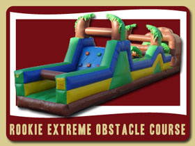 Rookie Extreem Inflatable Obstacle Course Moonwalk Palatka inflatable bounce house rentals Palm Coast