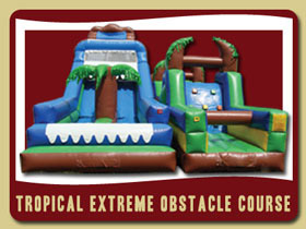 Tropical Exteem Obstacle Course Moonwalk Port Orange bounce house rental Deltona