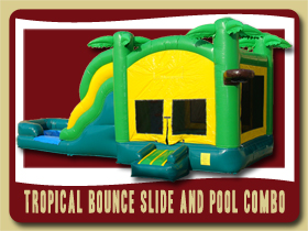 Tropical Bounce Slide and Pool Combo Inflatable Volusia County Inflatable moonwalk rental Deland