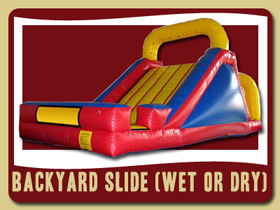 Backyard Waterslide inflatable Deltona kids party rentals Daytona beach