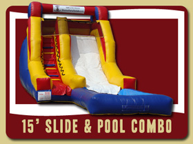 water slide and Pool Inflatable Crescent City jumpers Daytona Beach