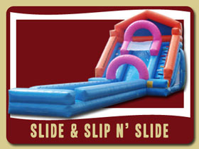 Slide and Slip and Slide inflatable Daytona Beach kids inflatable rentals Ormond Beach
