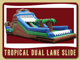 Tropical Dule Lane Slide Deltona Bunnell moon bouncers