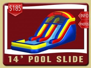 14 pool water slide rental port orange price blue red yellow