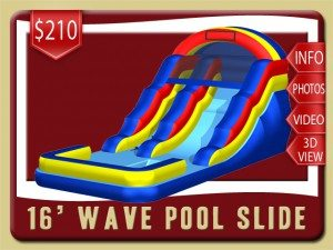 16 pool water slide rental de leon springs price blue yellow red