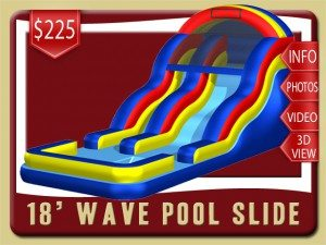 18 pool water slide rental daytona beach price blue red yellow