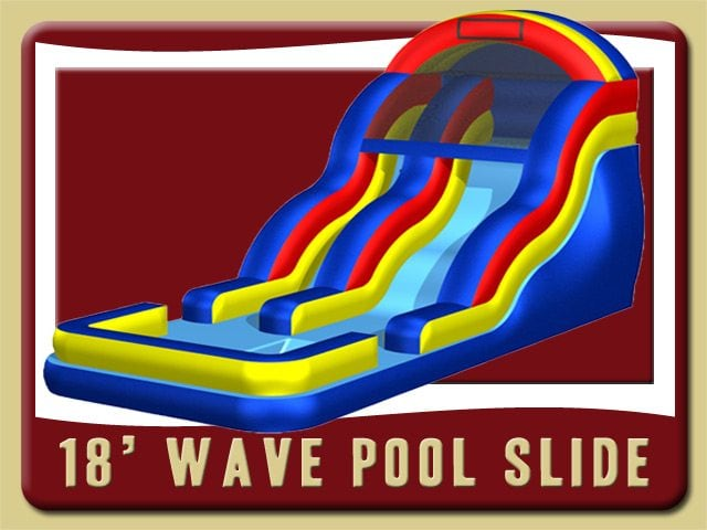 18 Pool Water Slide Rental Daytona Beach red yellow blue