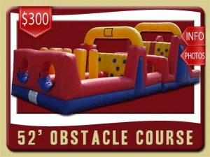 52 obstacle course inflatable rental hastings price blue red yellow