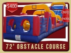 72 obstacle course inflatable rental deltona price blue red yellow