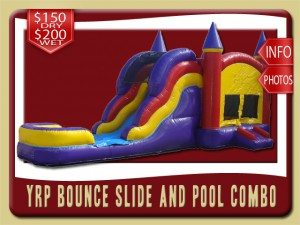 YRP3in1 inflatable moonwalk water slide combo rental port orange price red yellow purple