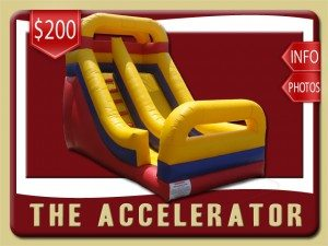 accelerator inflatable slide rental edgewater price blue red yellow