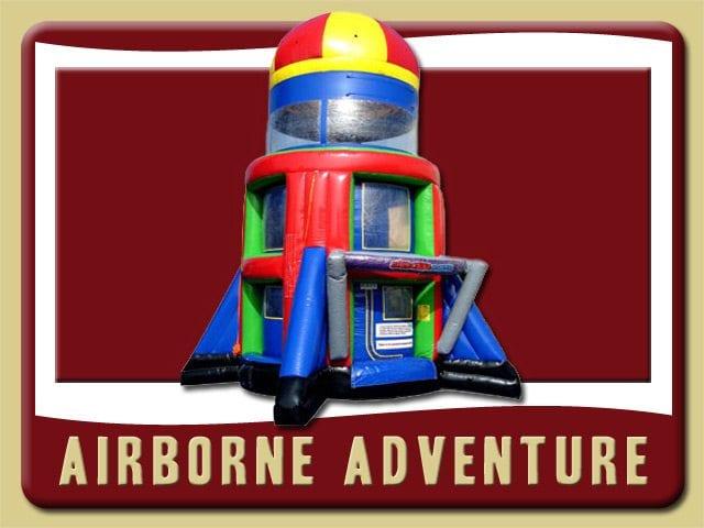 Airborne Adventure Rental Palm Coast Rocket green red blue