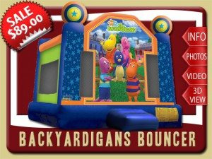 backyardigans bounce house moonwalk rental bunnell sale austin uniqua pablo tyrone tasha blue green orange