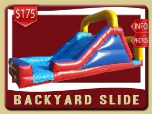 backyard Slide Inflatable rental port orange price blue red yellow