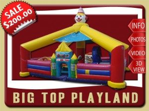 big top inflatable toddler playland rental orange city sale circus blue red yellow pink