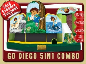 diego 5in1 combo water slide inflatable rental daytona beach sale baby jaguar