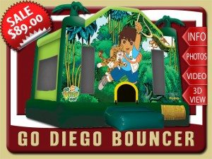 diego bounce house moonwalk party rental rental port orange sale jungle jaguar yellow green