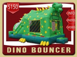 dino inflatable combo slide bounce house rental deltona price yellow green