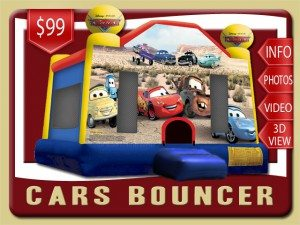 disney cars jump bounce house rental deltona price lightning mcqueen blue red yellow