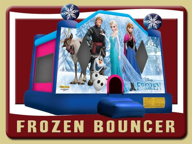 Disney Frozen Bounce House Olaf Kristoff Sven Elsa Inflatable Rental Palm Coast Blue Pink