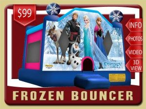 disney frozen bounce house olaf kristoff sven elsa inflatable rental palm coast price blue pink