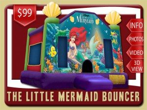 disney little mermaid bounce house rental deland price ariel sebastian flounder purple red green