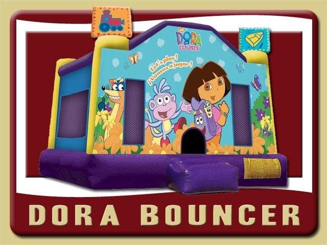 Dora Bounce House Moonwalk Party Rental Palm Coast Boots Swiper Backpack
