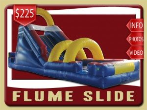 flume inflatable water slide rental palm coast price blue red yellow
