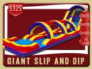 giant slip water slide inflatable rental deland price purple yellow red