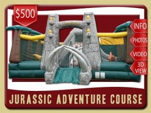 jurassic dinosaur inflatable bounce house rental de leon springs price rock climbing green gray brown