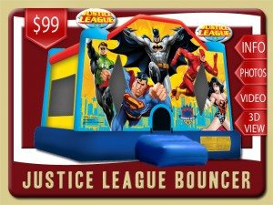 justice league bounce house rental palm coast price batman superman flash green lantern red blue