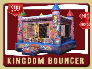 kingdom inflatable bounce house rental bunnell price knights princesses blue red yellow green