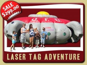 laser tag Inflatablerental new smyrna beach sale u.f.o gray red yellow aliens
