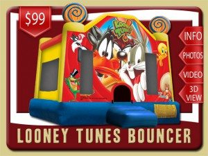 looney tunes bounce house rental bunnell price bugs bunny daffy duck tweety taz yellow red blue