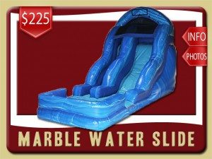 marble water slide pool rental flagler beach price blue